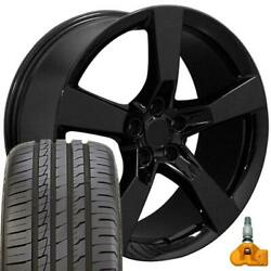20 In Black 5531 Wheels And 245/40zr20 Tires Fits Camaro - Ss Style 20x9 Rims