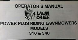 Lawn Chief 310 340 Rer Riding Mower Tractor And Engine Owner And Parts 3 Manual S