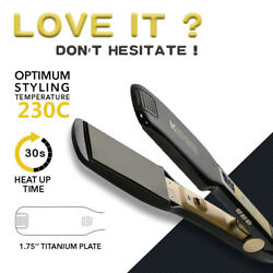 KIPOZI Flat Iron for Hair with 45mm Titanium Wide Plates Fast Heat LCD Display