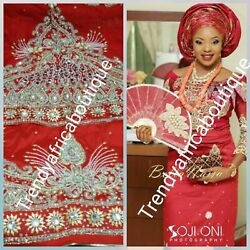 Assorted Colors Of Igbo Traditional Wedding George Wrapper. Heavily Beaded And S