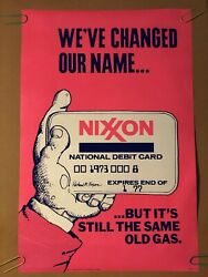 Weandrsquove Changed Our Name Nixon Exxon Oil Same Old Vintage Original Poster 1970and039s