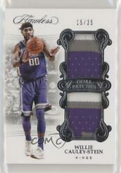 2017-18 Panini Flawless /25 Willie Cauley-stein Dp-wcs Dual Patch