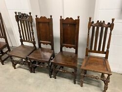 Rare 17th Century English Dining Chairs from Yorkshire