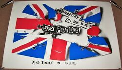 The Sex Pistols Uk Rec Com Promo Poster And039anarchy In The U.k.and039 Debut Single 1976