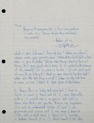 Tupac Shakur 2pac Twice-Signed Passionate Two-Page Handwritten Love Letter