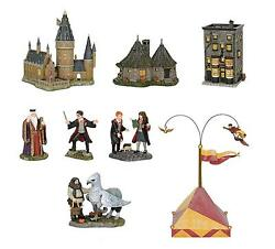 DEPT 56 HARRY POTTER Village Bundle **HOGWARTS Great Hall & TowerWAND SHOPHUT