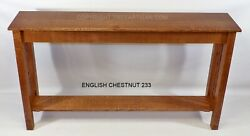 Craftsman Mission Console Hall Sofa Table Made to Your Size 27 Colors