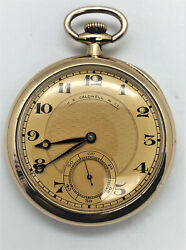 Vintage Vacheron And Constantin J.e.caldwell And Co 18k Yellow Gold Pocket Watch