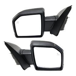 Mirror Set Of 2 For 2015-2018 Ford F-150 With Memory Paintable And Puddle Light