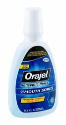 Orajel Antiseptic Mouth Sore Rinse-16.00oz (Quantity of 6)