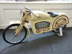 Bicycle in a Motorcycle shape Pedal Toy France 1925 RARE