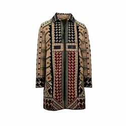 NWT VALENTINO Tan Beaded Wool Blend Embellished Coat Size 5040 $25060