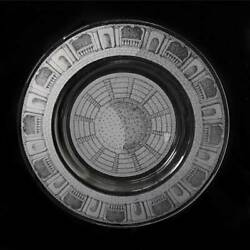 Stunning Etched Glass Charger Piero Fornasetti Italy Mid-century Modern 20th C.