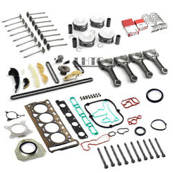 Engine Overhaul Rebuild Kit And Con Rods Set Andphi23mm For Vw Audi 2.0 Tfsi Cdn Ccz