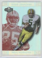 2007 Co-signers Red Changing Faces Hyper Silver /150 Paul Hornung Greg Jennings