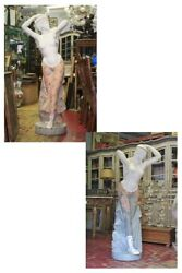 Pair of Statues in Marble Huge Polychrome, Age '900 / Couple of Statues Marble