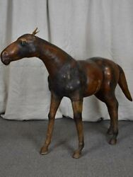 Mid Century Statue Of A Horse - Leather