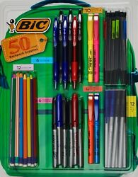 BiC Backpack Supplies School Pens #2 Pencils Markers Highlighters 50 Count $16.38