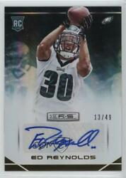 2014 Rookies And Stars Longevity Parallel Gold Signatures /49 Ed Reynolds Auto
