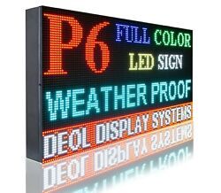Wifi 6mm Full Color 16 X 61 Pc Programmable Led Text/logo Business Bright Sign