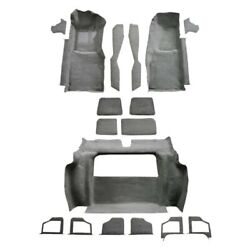 For Chevy Corvette 80 Carpet Essex Replacement Molded Charcoal Complete Carpet w
