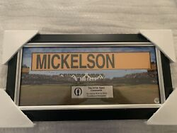 Phil Mickelson British Open Game Tour Used Scoreboard Nametag Better Than Flag