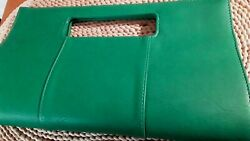 Charming Charlies Clutch Large Lime Jungle Green Faux Leather
