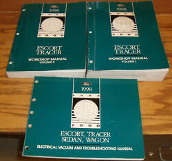 1998 Ford Escort Mercury Tracer Shop Service Manual Vol 1 & 2 + Wiring Diagrams