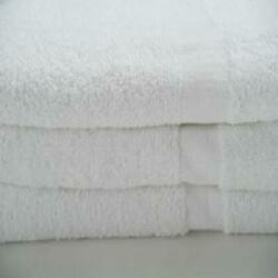 Economy Bath Towels Poly/cotton White - Cam Border See Quantities Below