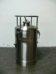 Lot Of 4 Precision 200 Liter 316 Stainless Steel Pressure Vessel 100 Psi @ 302f