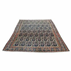 4and0394x6and0394 Antique Farsian Senneh Paisley Design Hand-knotted Rug R46437