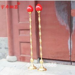 1.58 M Chinese Copper Electroplate Decorative Arts Lamps Desk Lamp Table Lamp