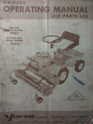 Yard Man 3100-7 Riding Lawn Tractor Mower And Engine Owner And Parts 4 Manual S