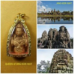 QUEEN of ANG-KOR-WAT TOP AMULET of THAILAND (of ASIA) Buddha Statue Pendant !!