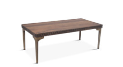 48 L Maliah Coffee Table Hand Carved Accents Hand Crafted Solid Mango Wood