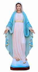Statue Madonna Miraculeuse Sans Serpente. Our Lady Of Grace Without Snake