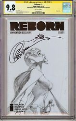 Reborn 1 Cgc 9.8 Ss X2 Signed By Capullo And Glapion Nycc Sketch Cover Netflix