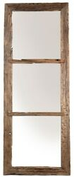 78 T Daniel Mirror Hand Crafted Reclaimed Pine Flat Mirror Rustic Classic