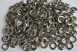 Grommets 2 Rolled Rim Nickel Plated Steel With Spur Washers 1,000