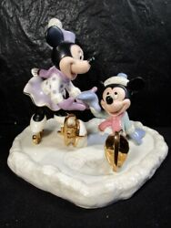Lenox Walt Disney Mickey And Minnie Mouse  Mickey Falls For Love  Exquisite