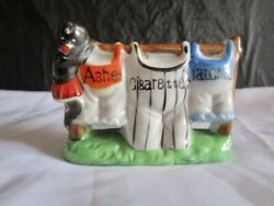 Old Character Ashtray - Ashes, Cigarettes, Matches - Made In Japan
