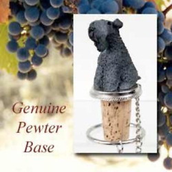 1 X Kerry Blue Terrier Dog Wine Bottle Stopper - DTB114 by Conversation Concepts