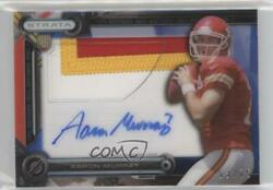 2014 Topps Strata Clear Cut Relics Ruby /25 Aaron Murray Rpa Rookie Patch Auto
