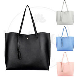 Women Synthetic Leather Handbag Shoulder Ladies Purse Messenger Satchel Tote Bag $9.85