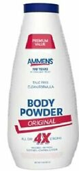 Ammens Original Medicated Powder All Day Protection Multi-purpose 11oz 8 Pack