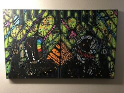 Original Painting Canvas   Daft Punk   Edition 1 Of 1 By Kevin Weinreich   Kaws