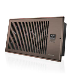 Airtap T6 Quiet Register Booster Fan Heating / Cooling 6 X 12andrdquo Registers Brown