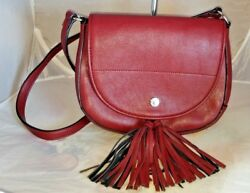 Calvin Klein Maroon Messenger Purse in EUC MSRP $128 $24.95