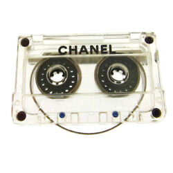 Authentic CHANEL Vintage CC Cassette Tape Brooch Pin Corsage Plastic AK31365