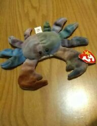 Vintage Claude The Crab Original Ty Beanie Baby 1996 Retired With P.v.c. Pellets